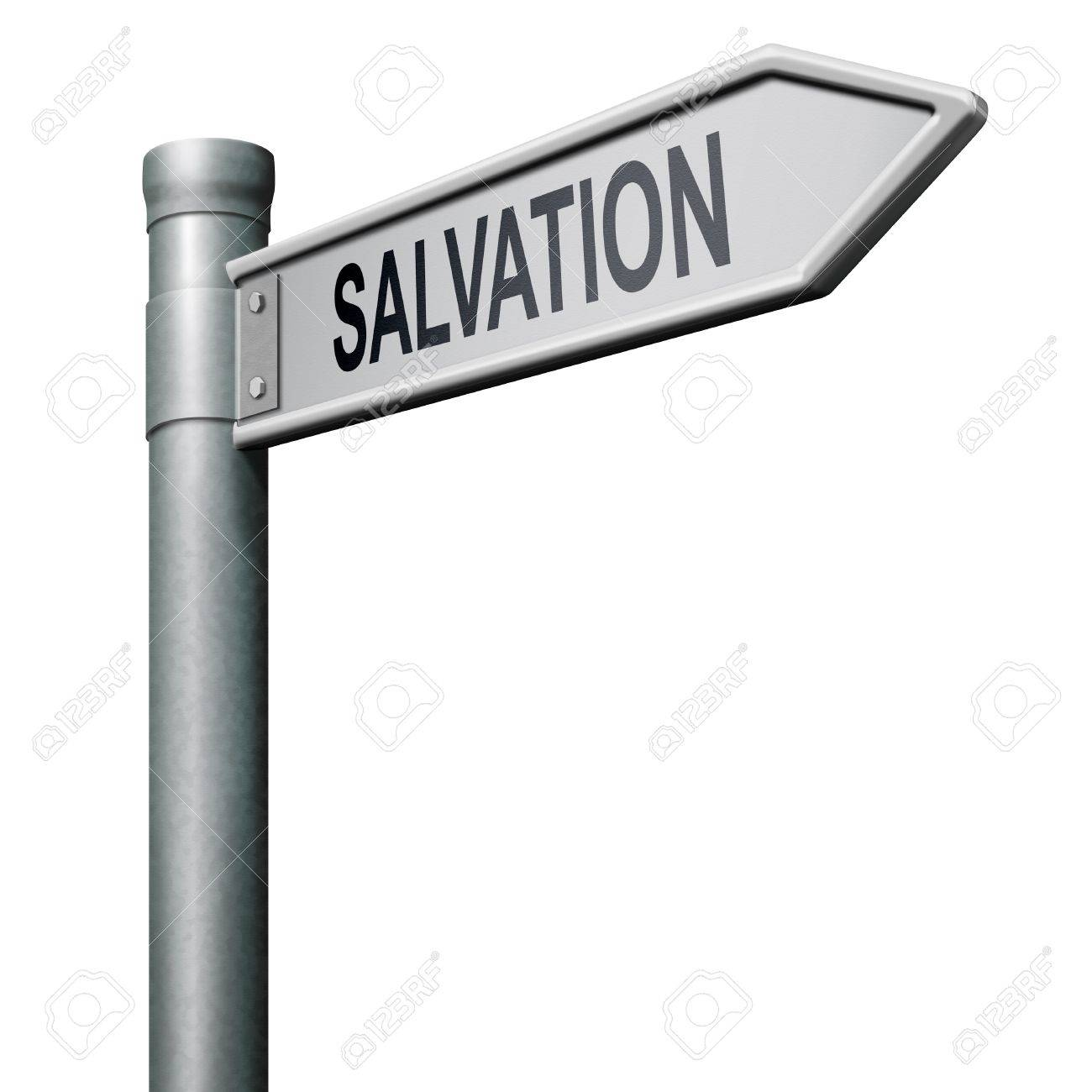 way to salvation follow jesus and god to be rescued save your soul Stock Photo - 8406391