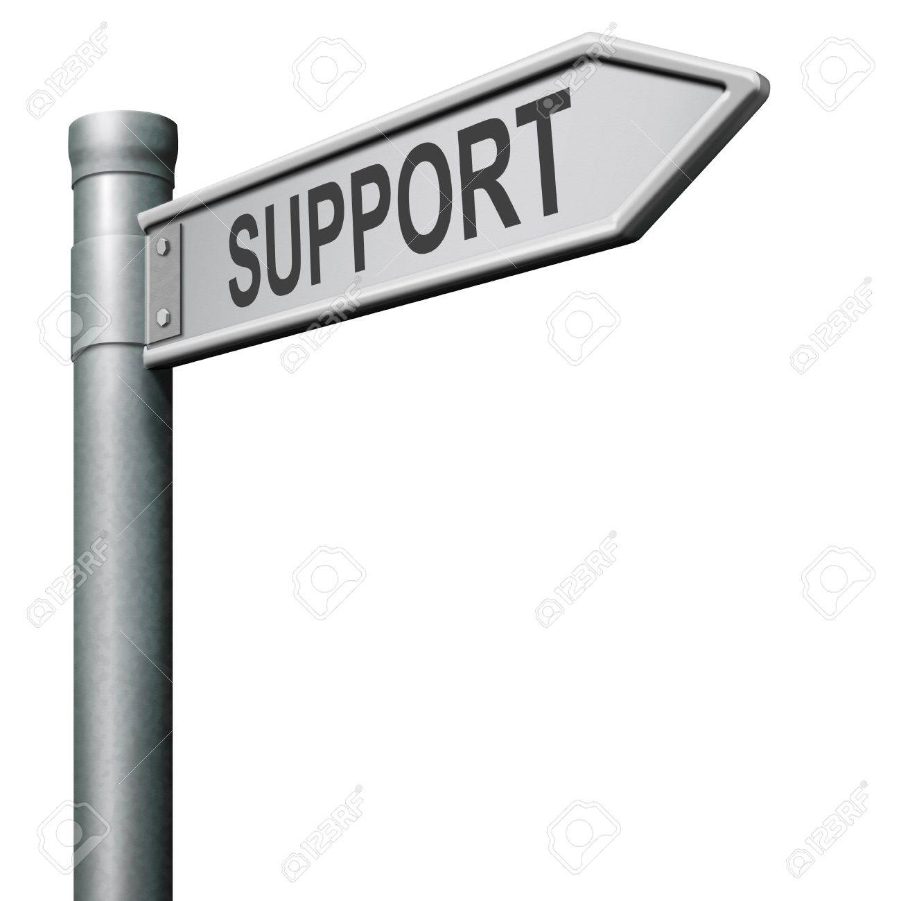 find support in help desk or online assistance Stock Photo - 8406376