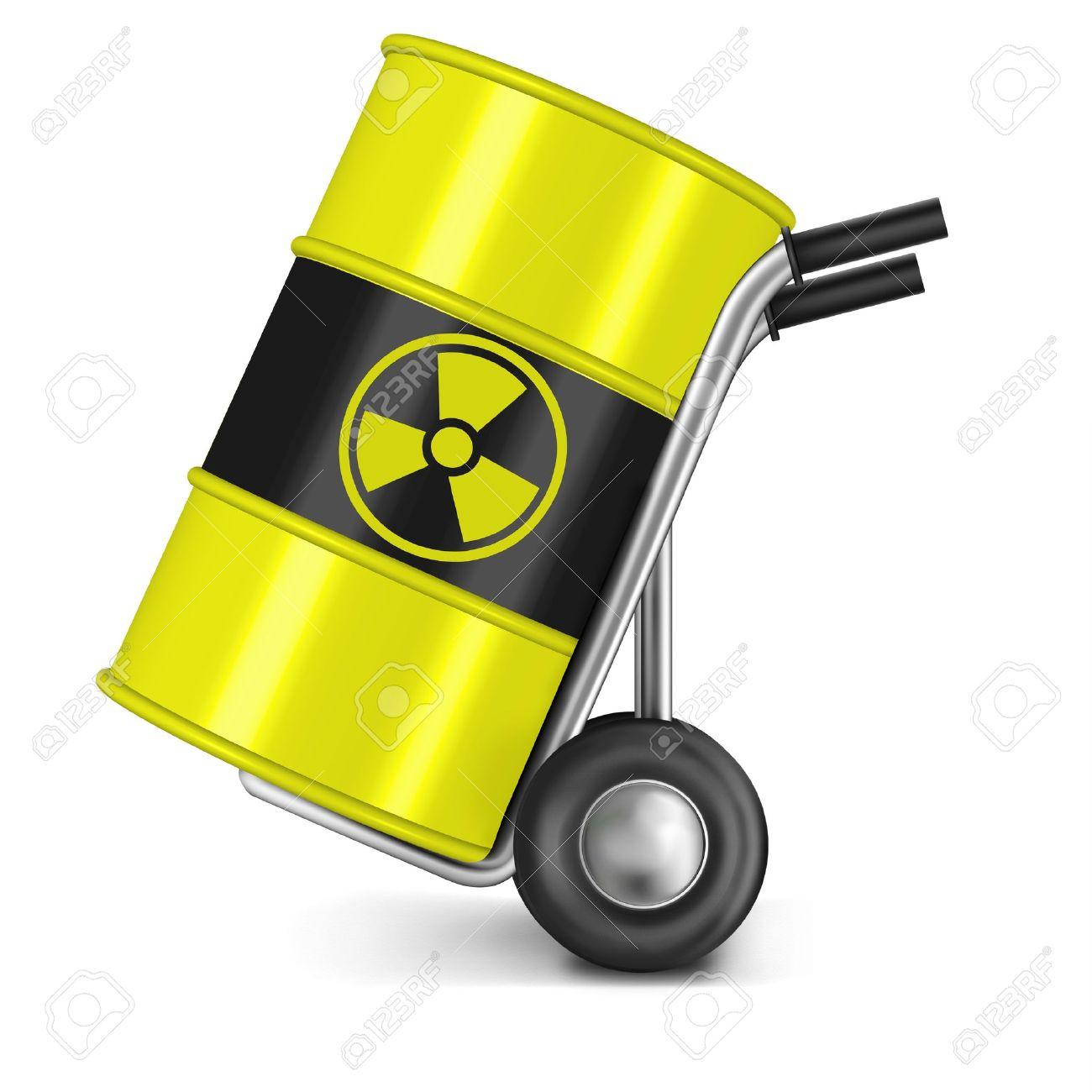 barrel with radio active waste nuclear power station waiste dangerous hazard of gamma radiation radioactive radiance risk radium uranium Stock Photo - 9092704