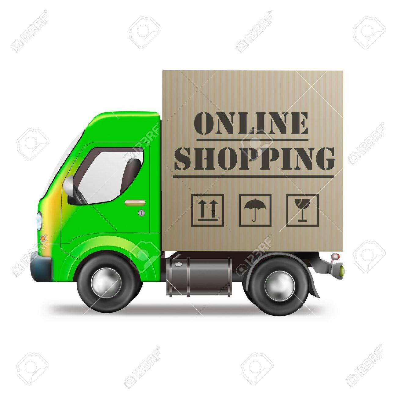 online shopping internet web shop icon package delivery shipping order Stock Photo - 9387516