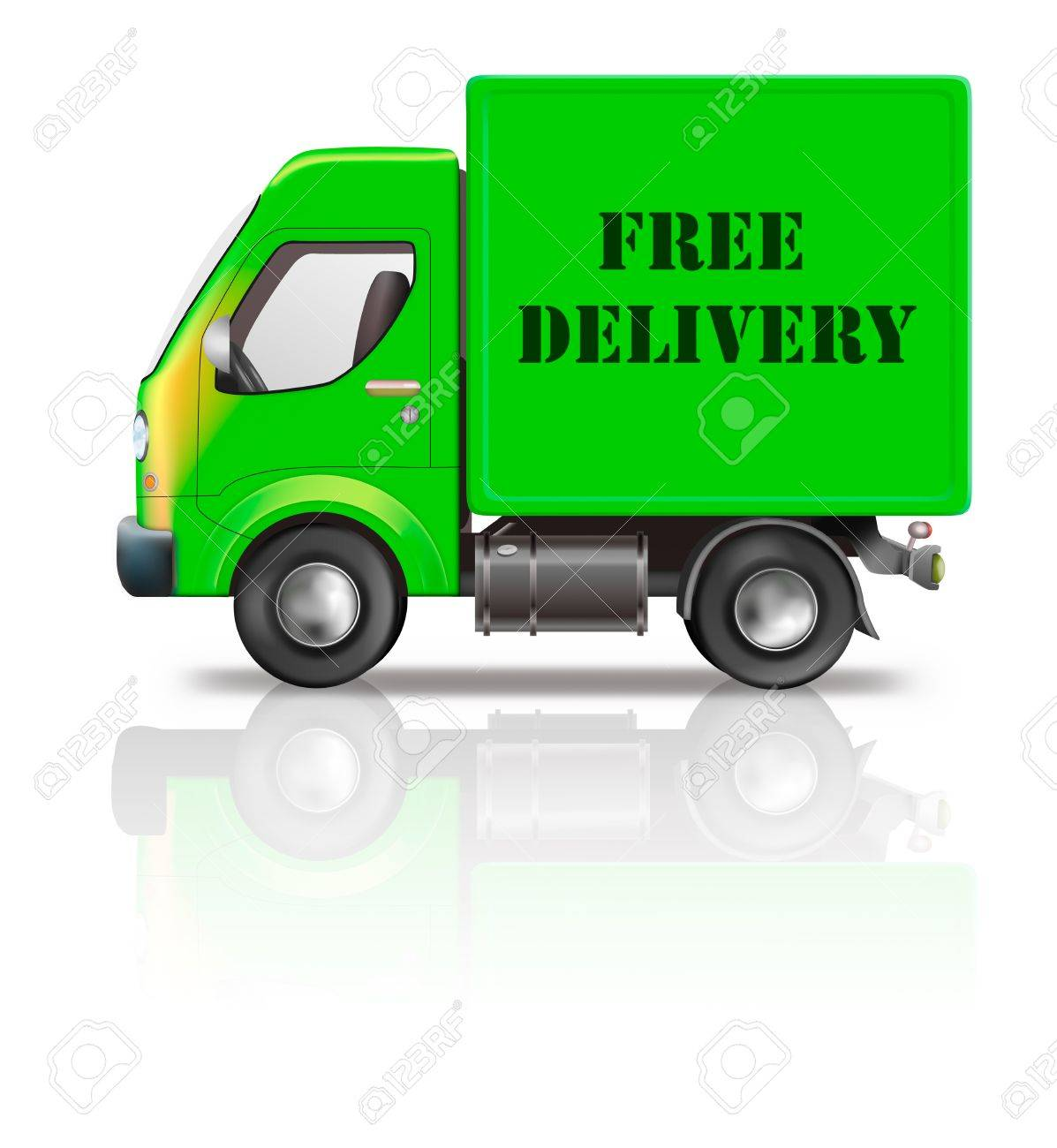 Free Delivery Truck Online Order Shipping From Online Internet ...