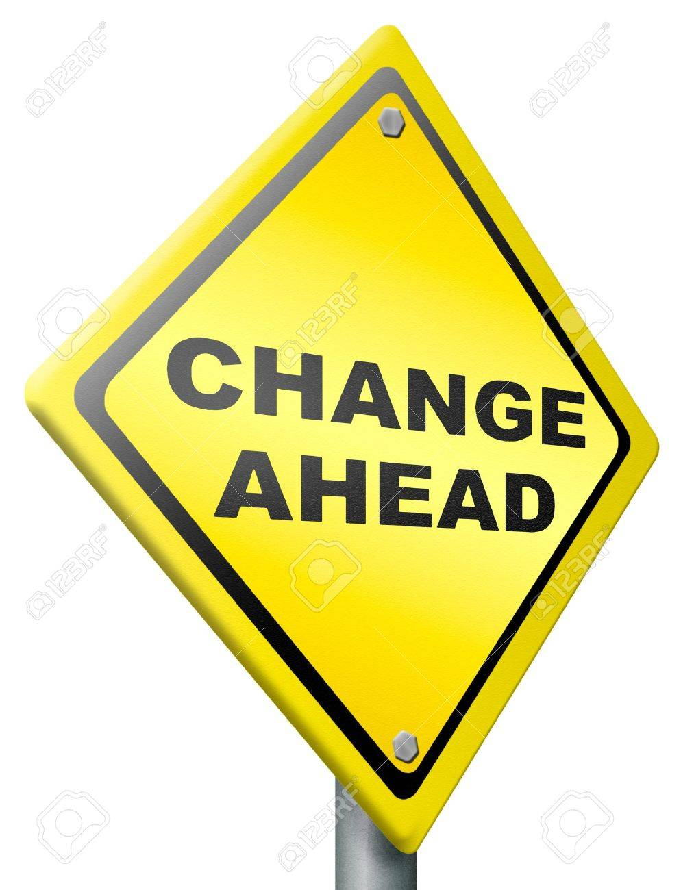 change ahead changes and improvement making thing better for the future positive evolution improve to the best road sign with text Stock Photo - 11289492