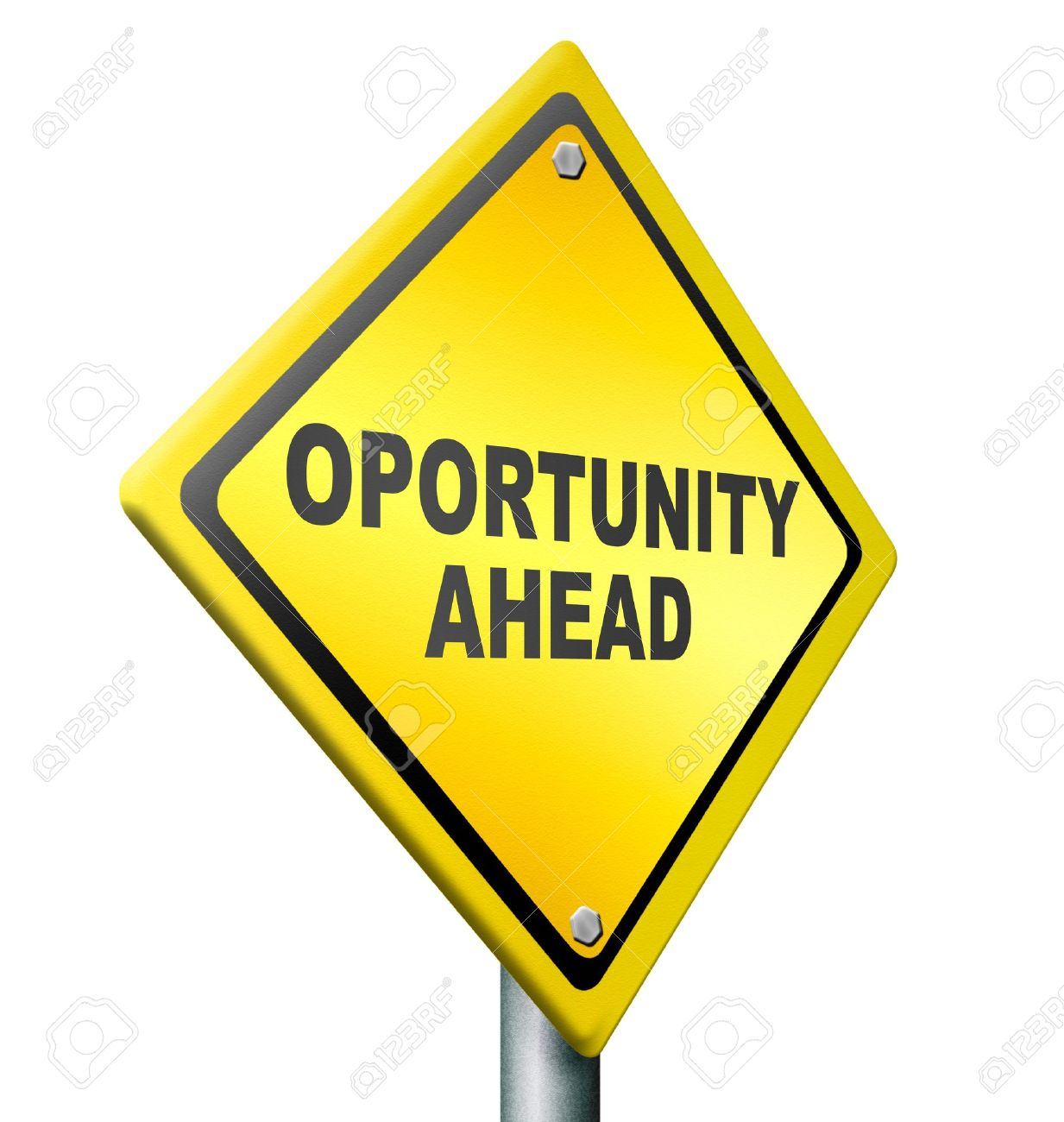 opportunity ahead best chances to change for the better job stock photo opportunity ahead best chances to change for the better job improvement career move yellow road sign black text