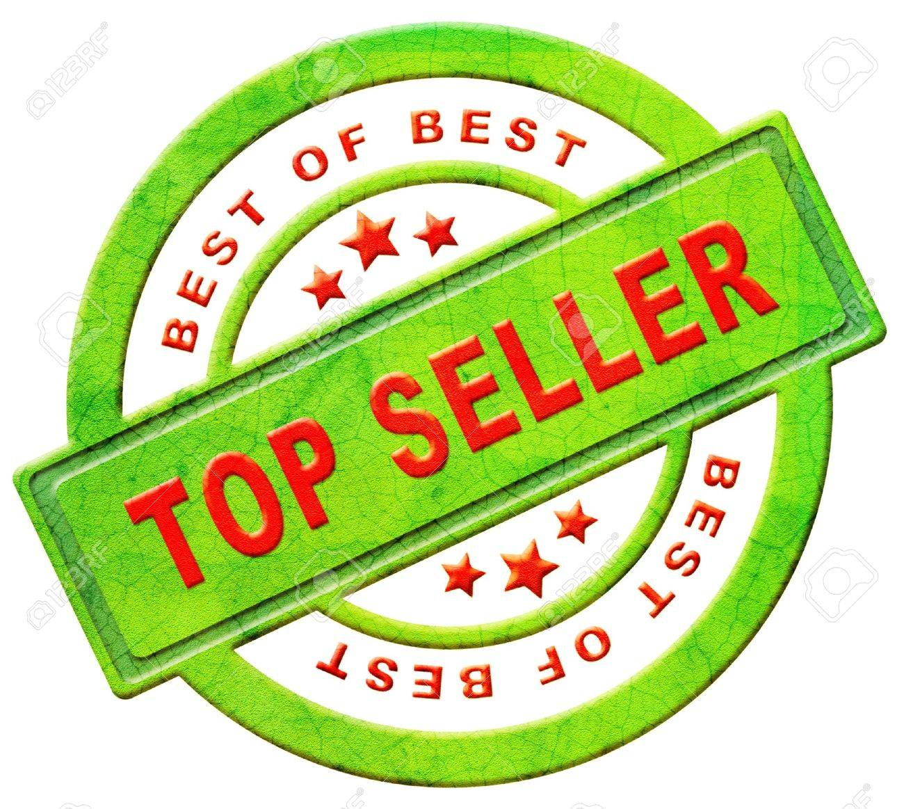 top seller icon bestseller best seller red text on green button for online internet web shop sales concept and shopping Stock Photo - 12440947
