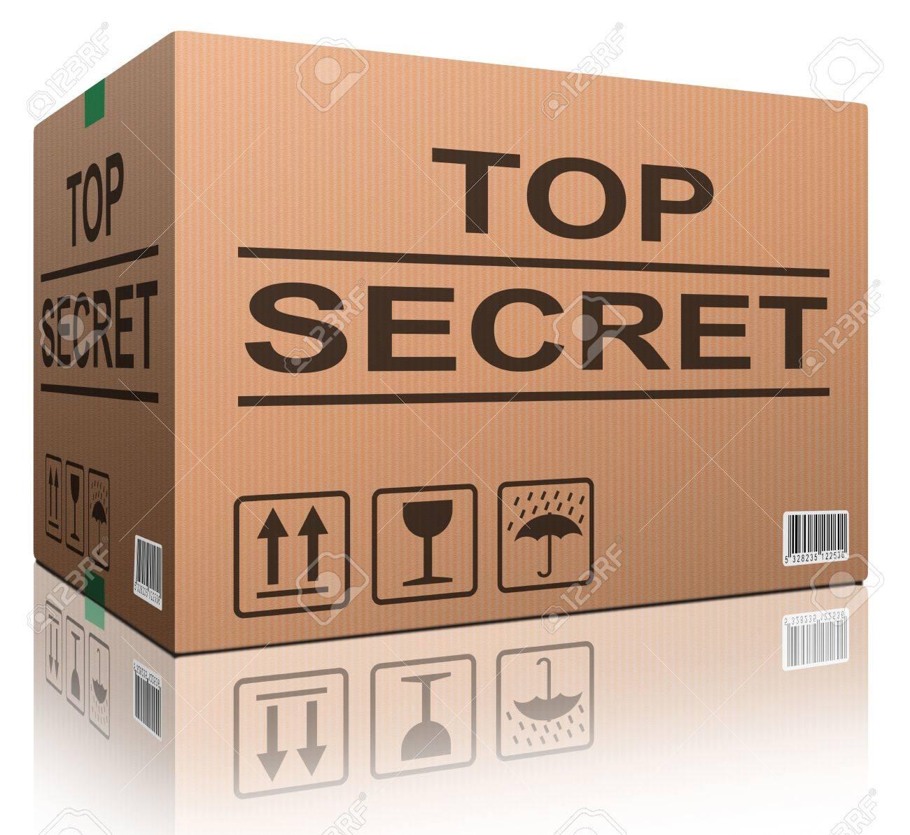 top secret confidential information or classified info big important secret Stock Photo - 12443434