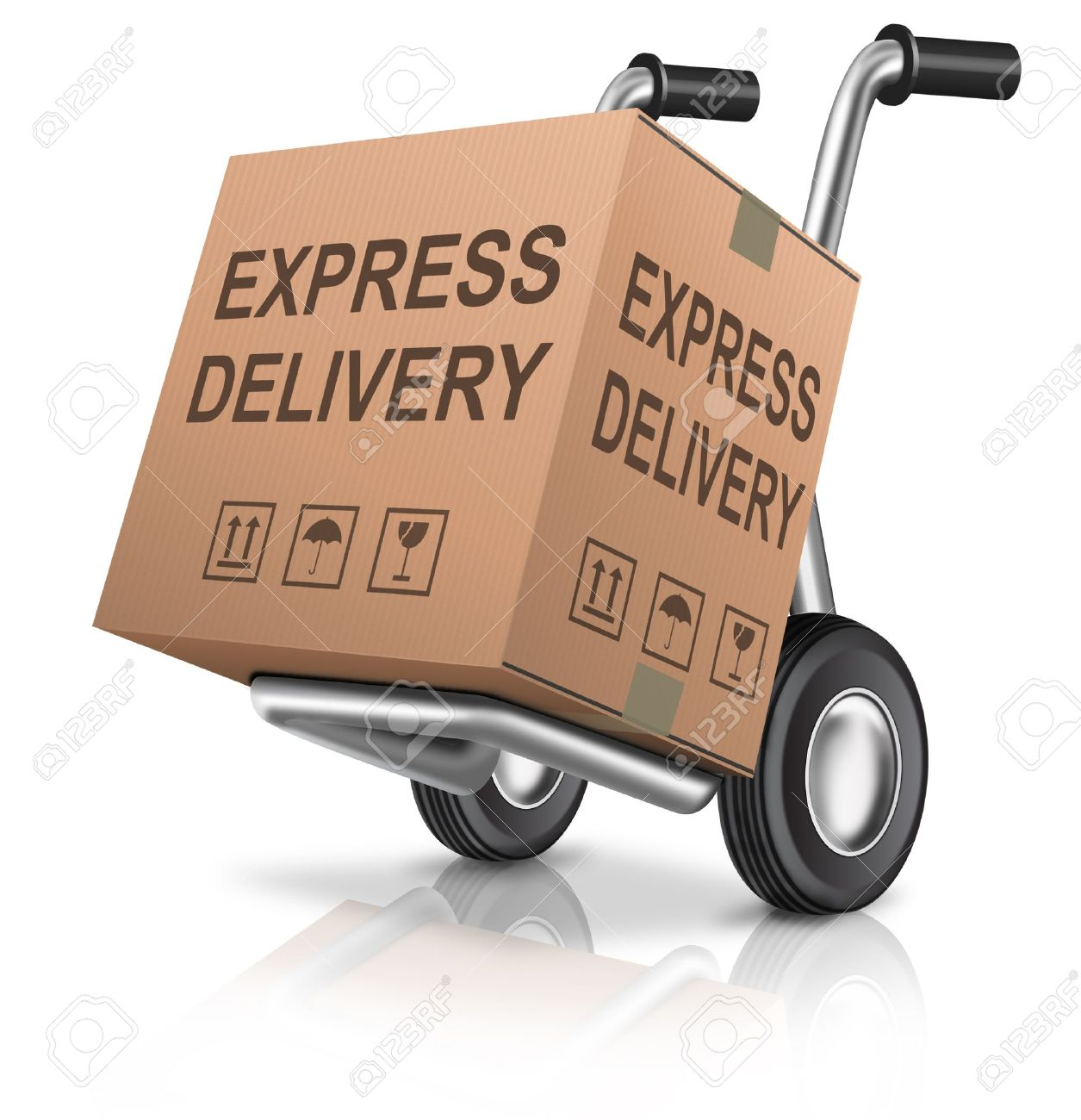 64eb236eba472 express delivery cardboard box on hand truck with text concept for order  shipping of online webshop