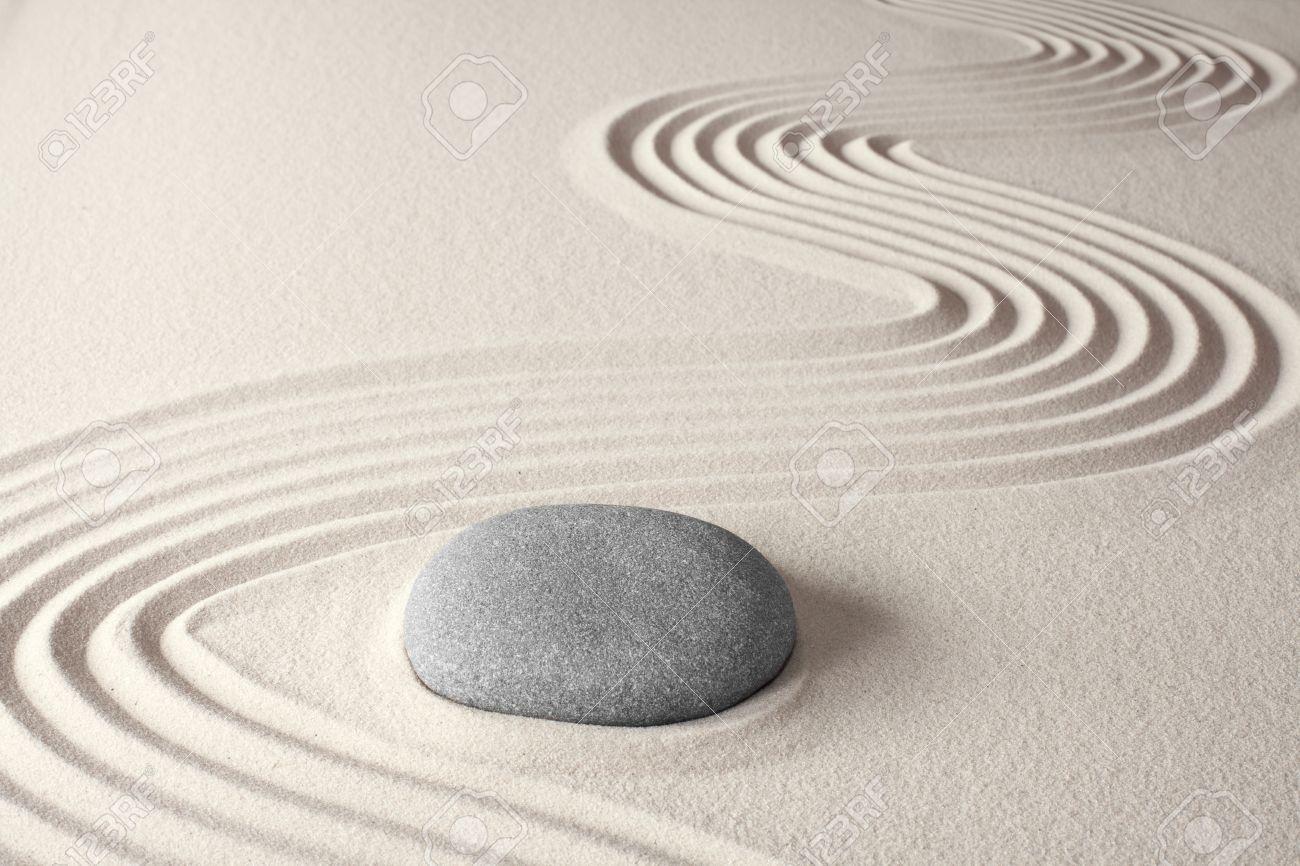 Spirituelle De Fond La Méditation Zen Dans Le Concept De Roche ...