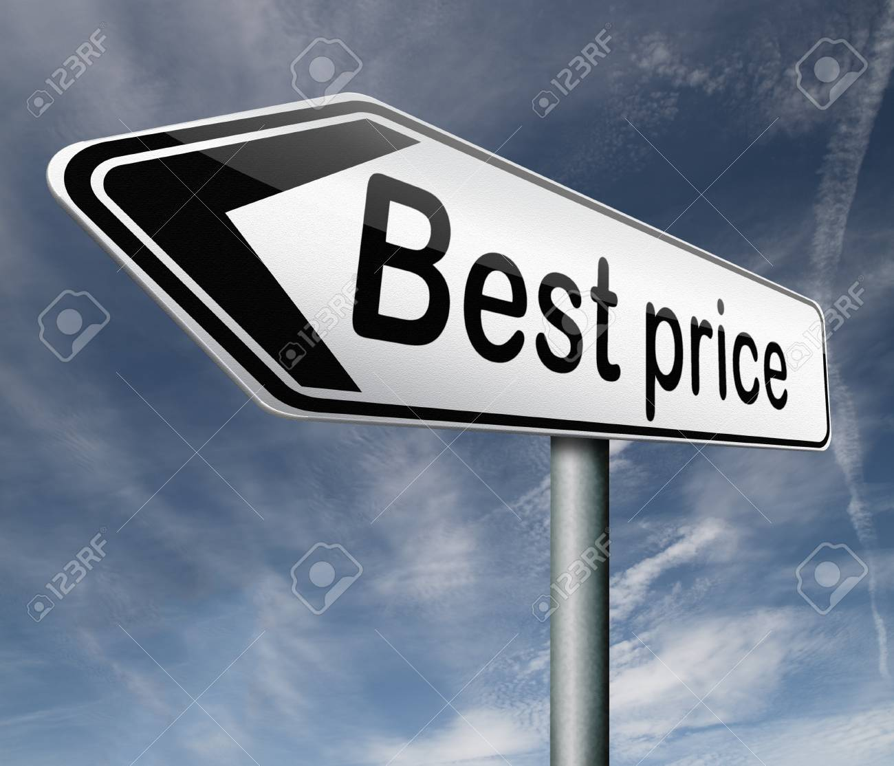best price road sign button low price or bargain special offer,arrow Stock Photo - 16575459