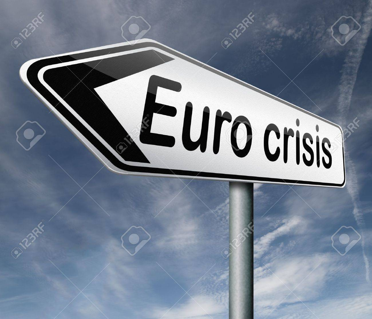 Euro crisis bank crash credit or housing bubble leading to economic recession or depression Stock Photo - 16575531