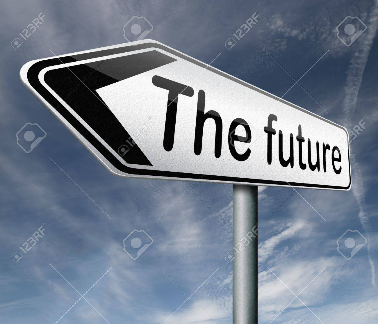 bright future ahead road sign indicating direction to a happy future button icon arrow Stock Photo - 16575573