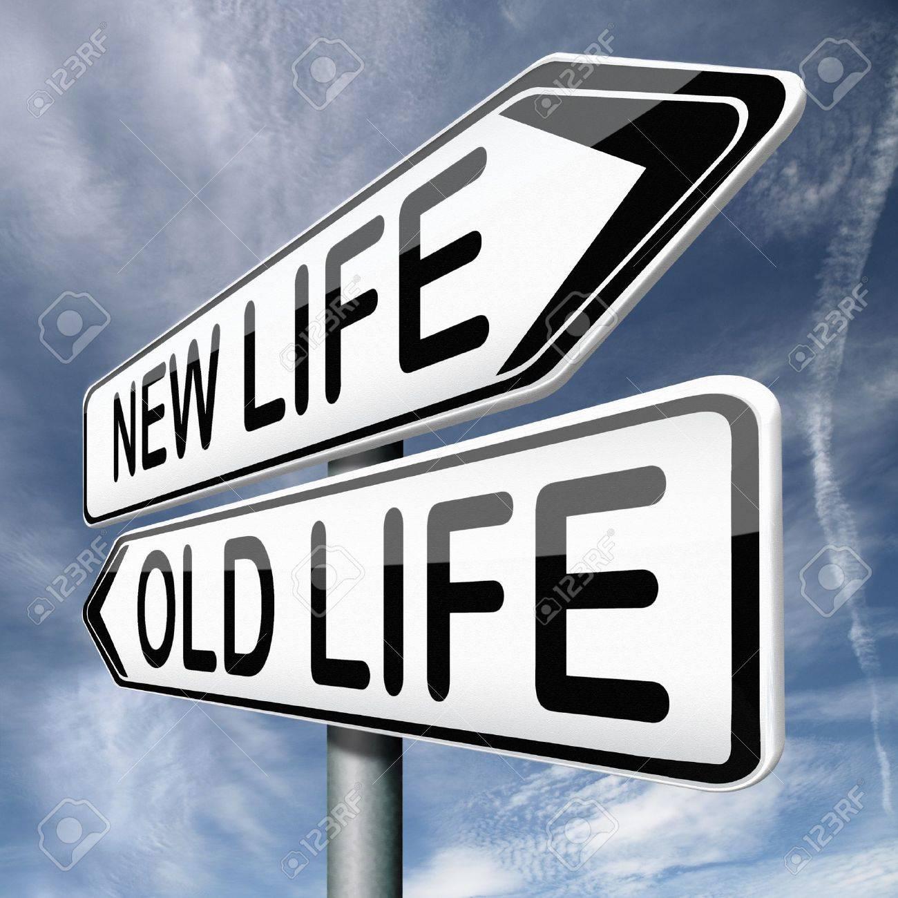 古いまたは新しい人生再出発また...