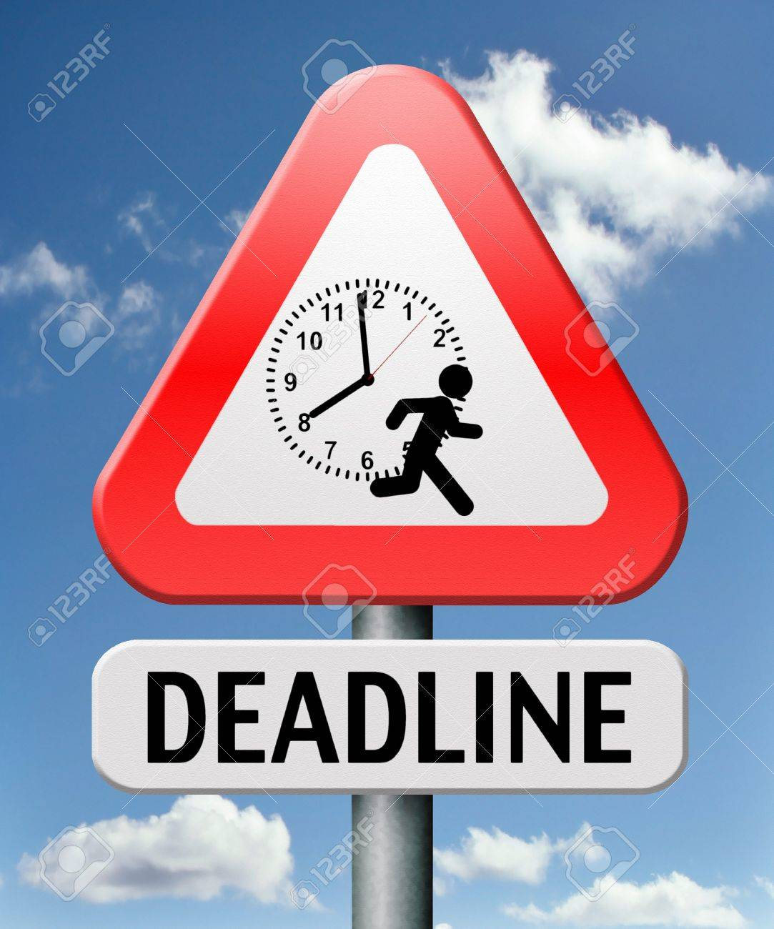 deadline hurry up and work against the clock gives job stress stock photo deadline hurry up and work against the clock gives job stress last minute task or late target date
