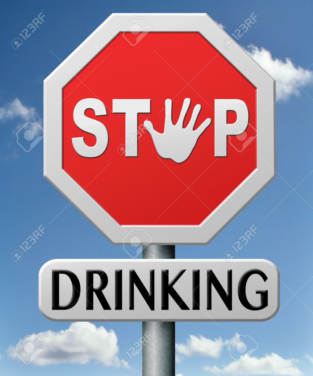 stop drinking and alcohol abuse dependence and addiction to drug create problems Stock Photo - 17463029