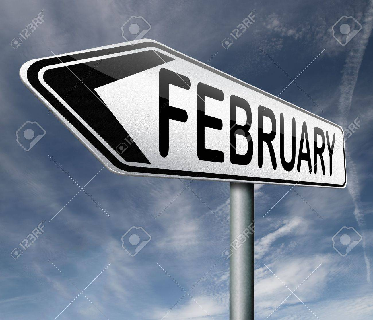 february month road sign Stock Photo - 17463095
