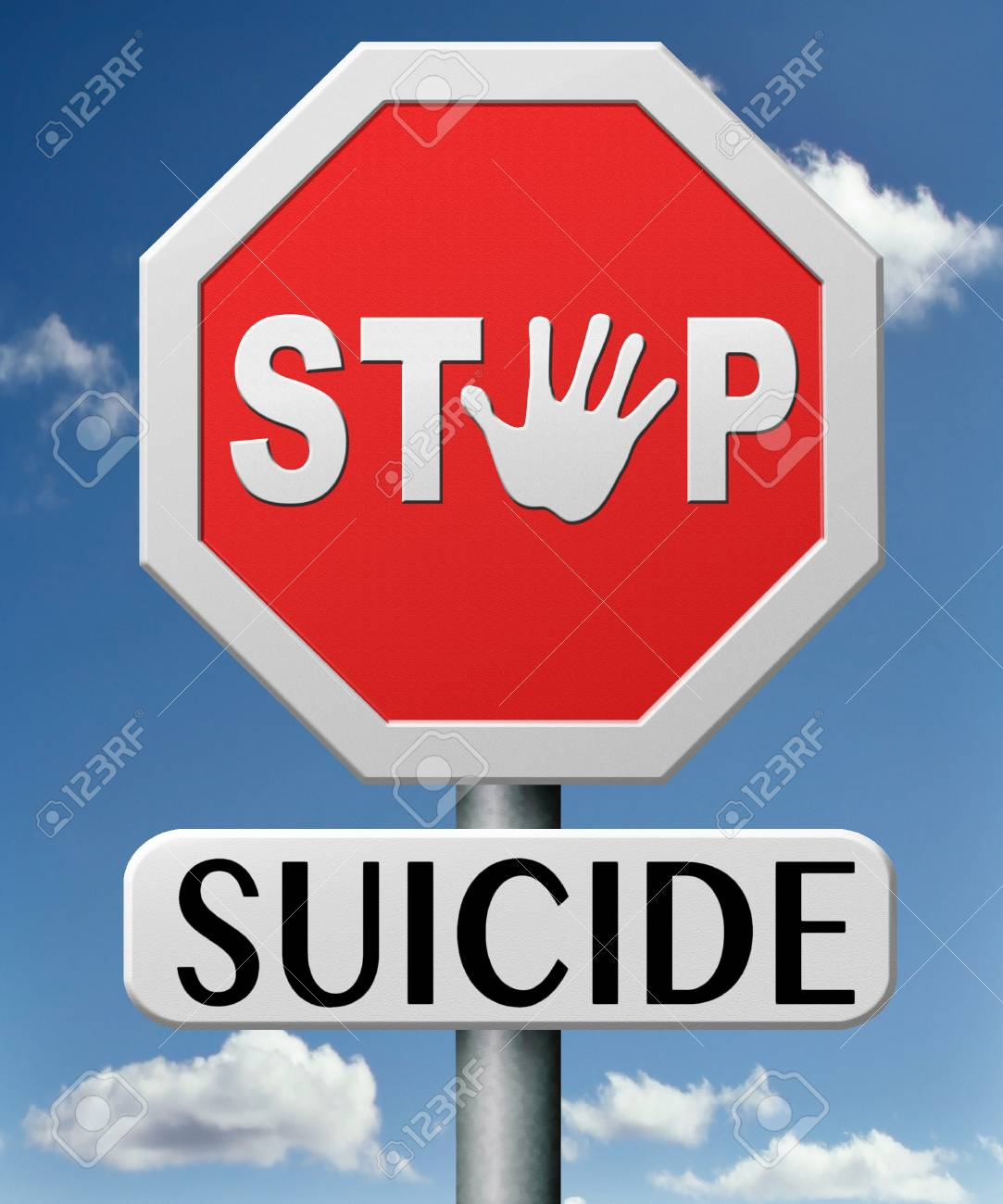 stop suicide prevention campaign to hlp suicidal people Stock Photo - 17841883