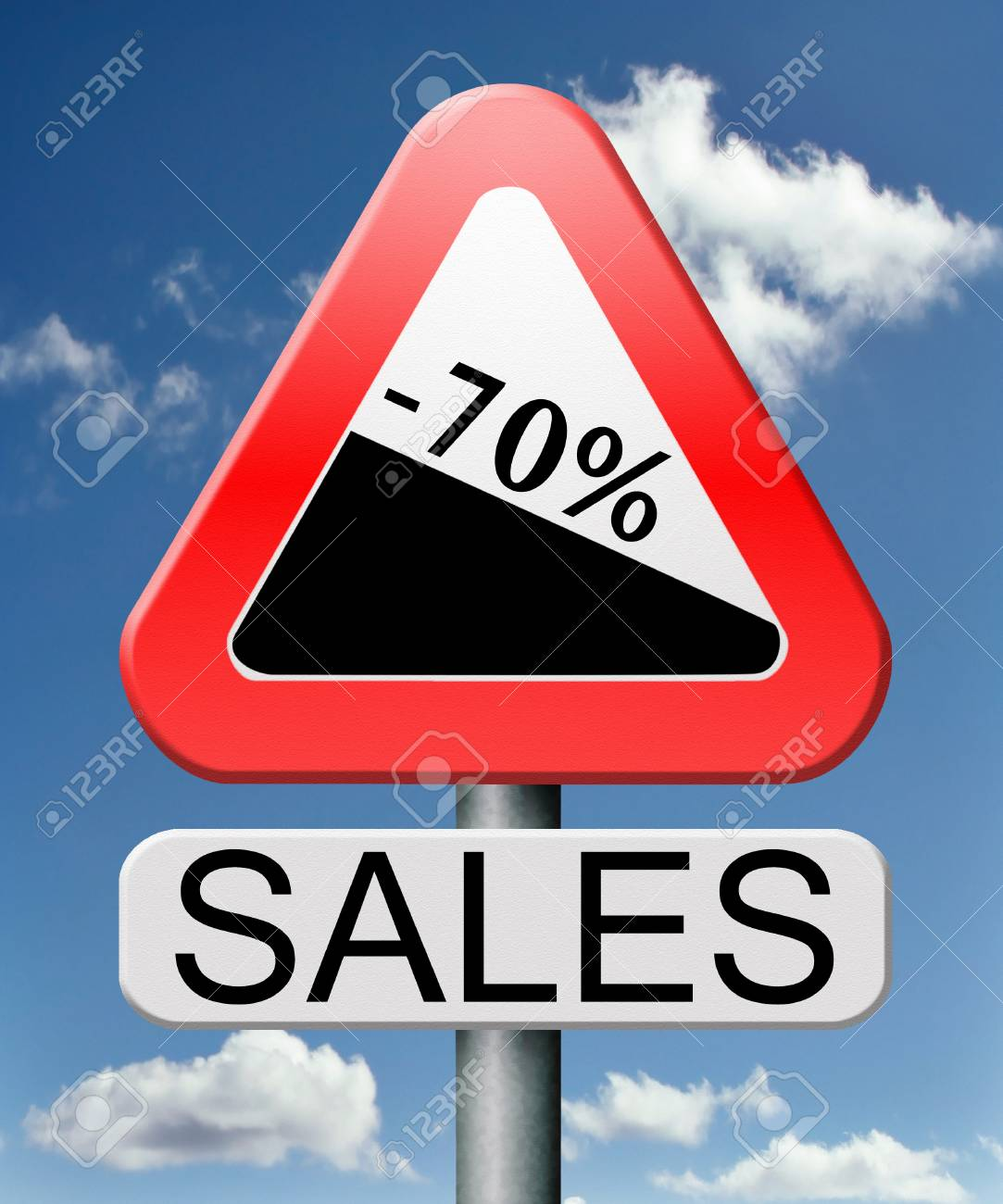 sale 70% off winter off for summer sales text on road signconcept for online web shop internet shopping icon or button. Bargain discount or reduction for extra low price promotion. Stock Photo - 18534841
