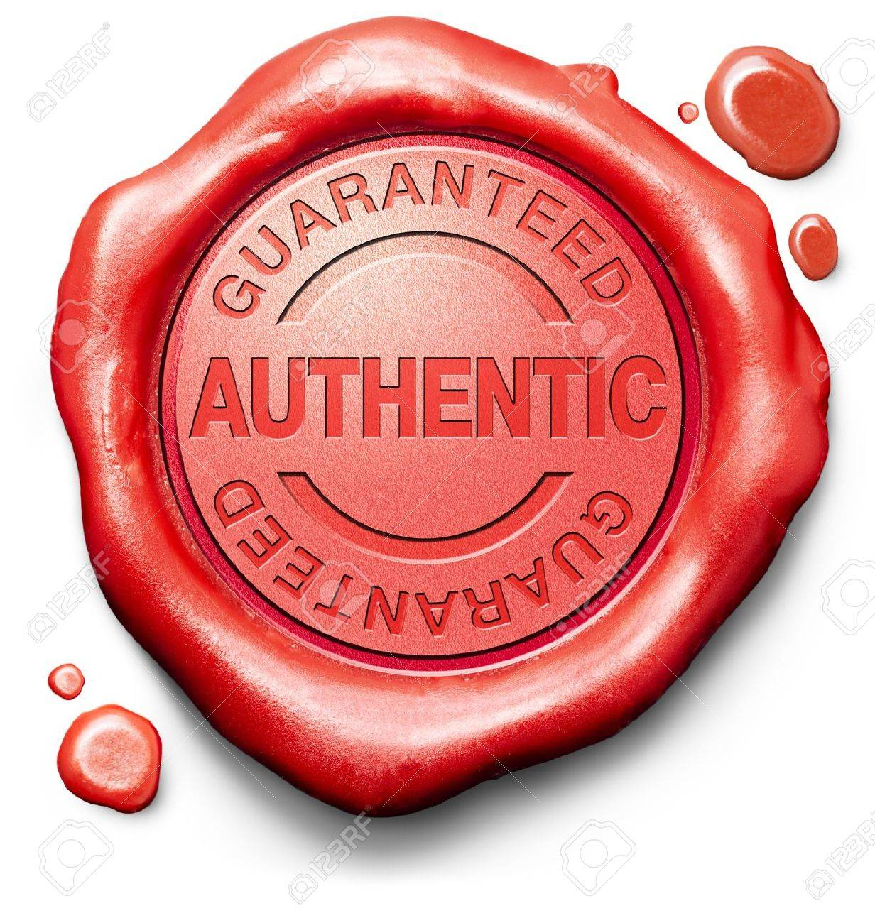 Guaranteed Authentic Stamp Red Wax Seal Quality Label Authenticity ...