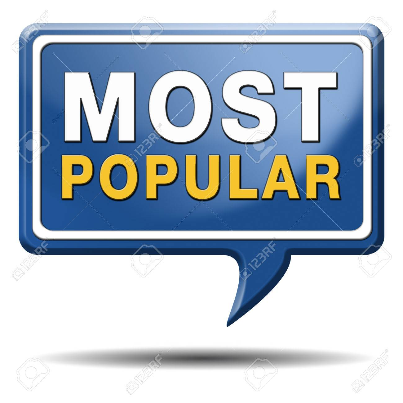 most popular sign popularity label or icon for bestseller or market leader and top product or rating in the charts Stock Photo - 23101196
