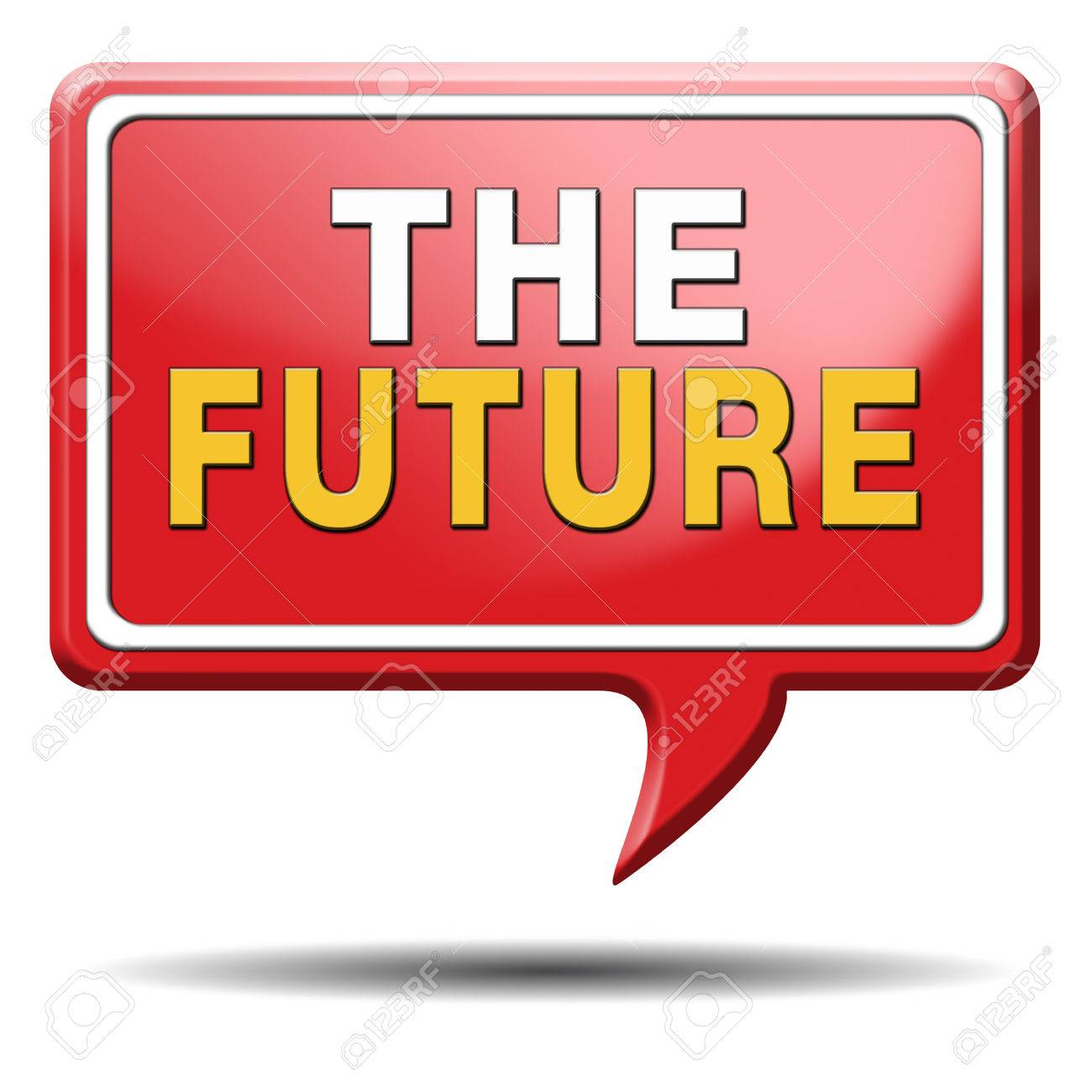 bright future ahead planning a happy future having a good plan button icon with text and word concept Stock Photo - 23101220