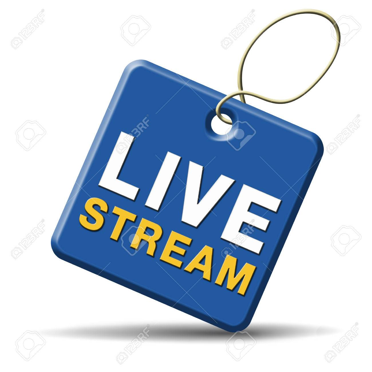 live stream tv music or video button icon or sign live on air broadcasting movie or radio program Stock Photo - 23187058
