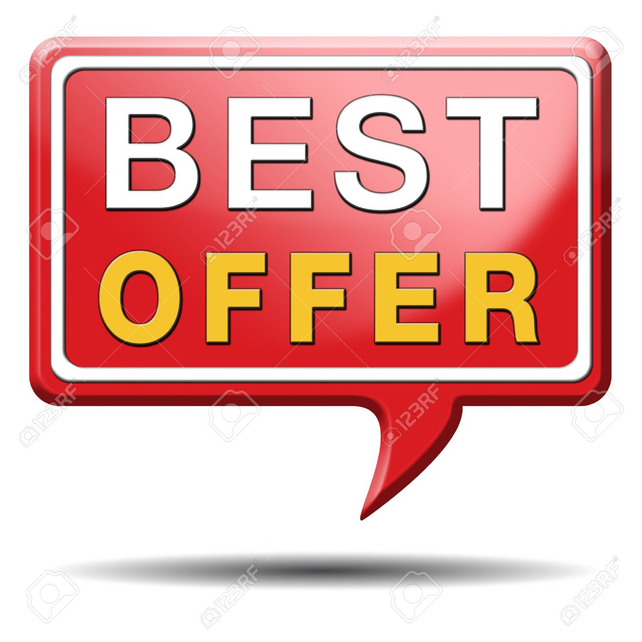 best offer lowest price and best value for the money web shop icon or online promotion