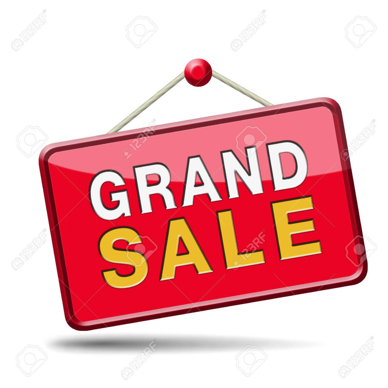 grand sale sales and reduced prices off authorization granted