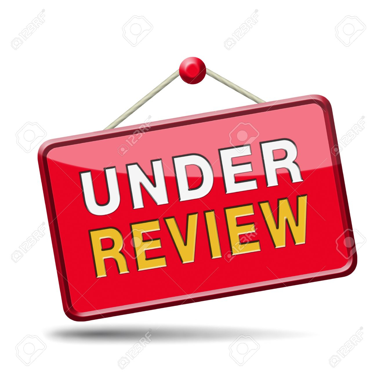 Under Review Pending Application Button Or Icon Stock Photo ...