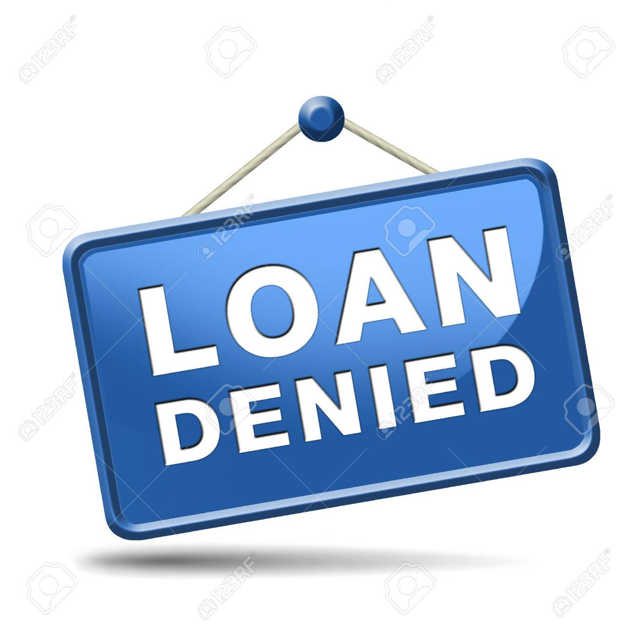 loan denied icon or button loaning money for car house education or mortgage Stock Photo - 23992795