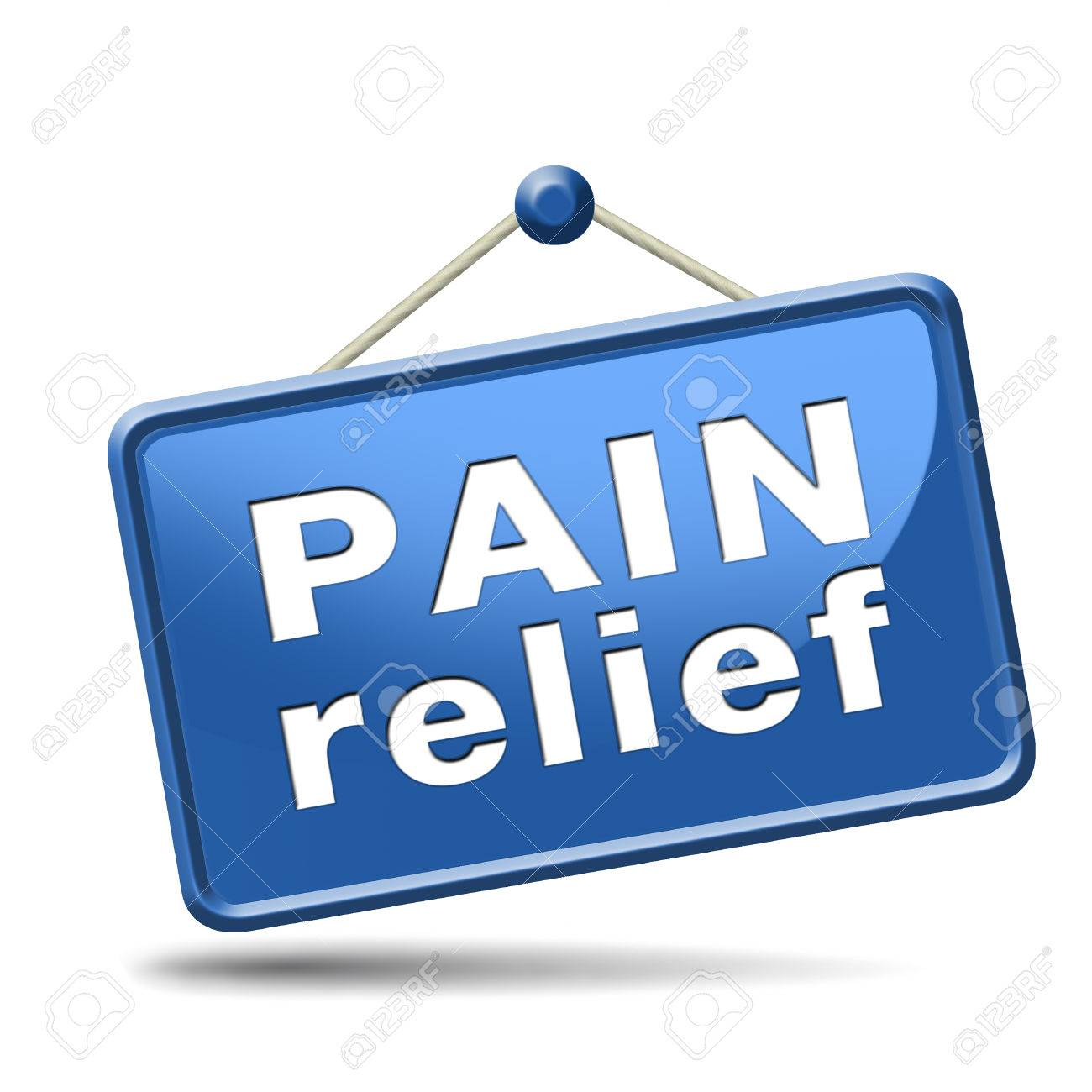 pain relief or management by painkiller or other treatment chronic back injury sign with text - 25263115