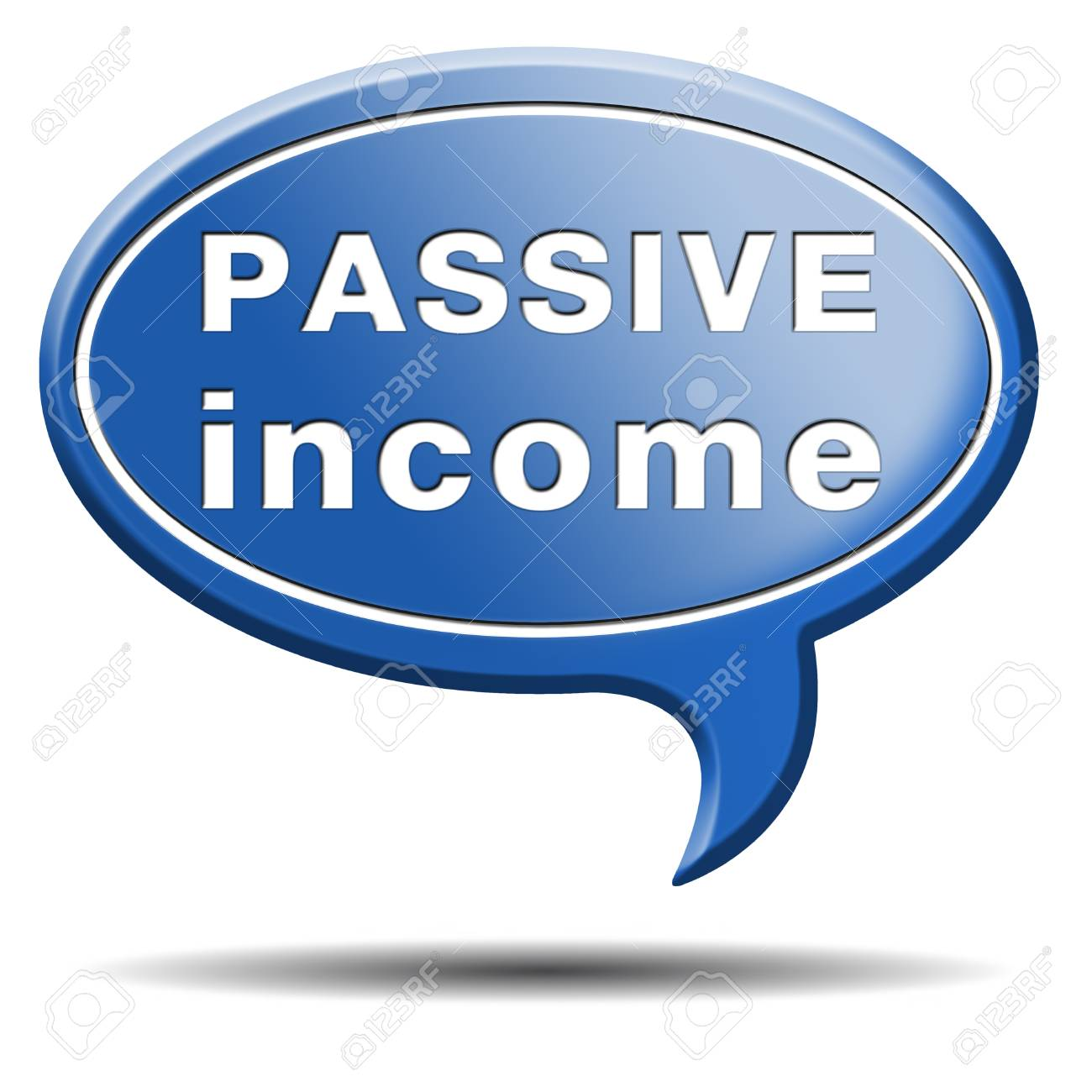 passive income earn money online earn more work less residual recurring income Stock Photo - 25263119