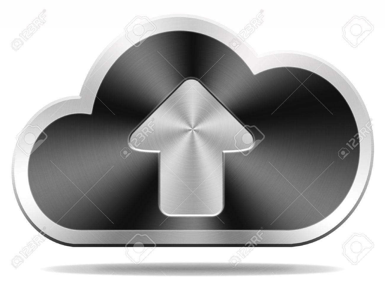cloud data upload icon uploading file document photo music or