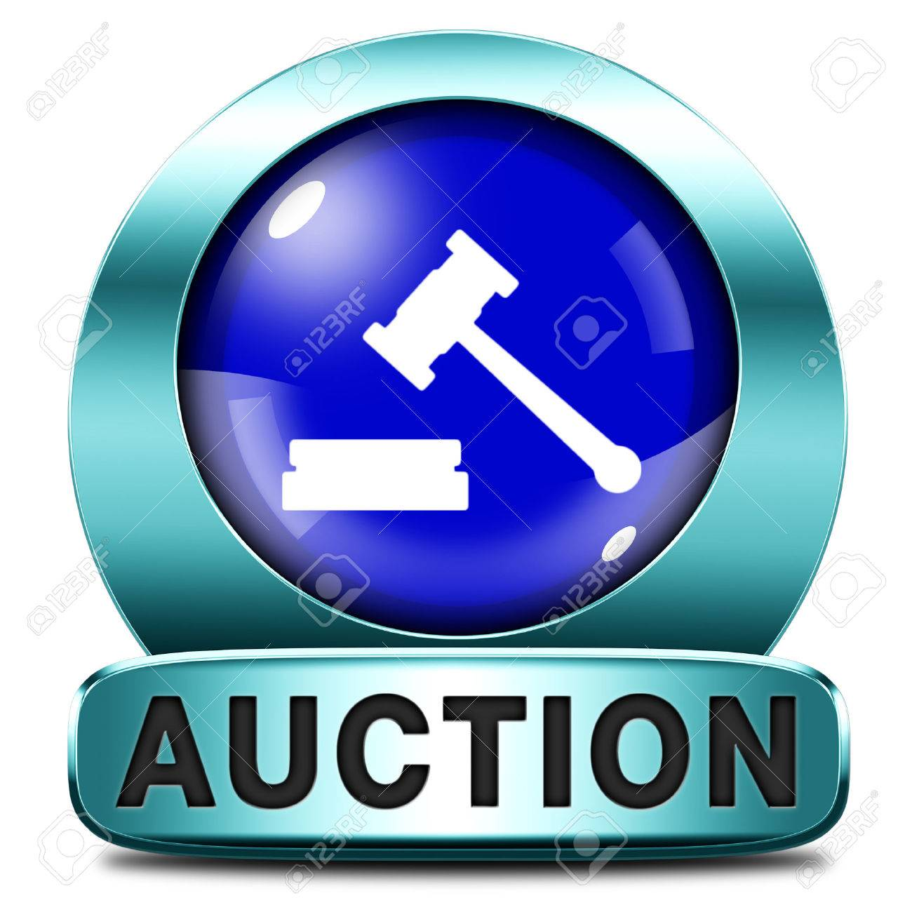 Auction Sign Online Sale Bidding And Buying Real Estate Cars
