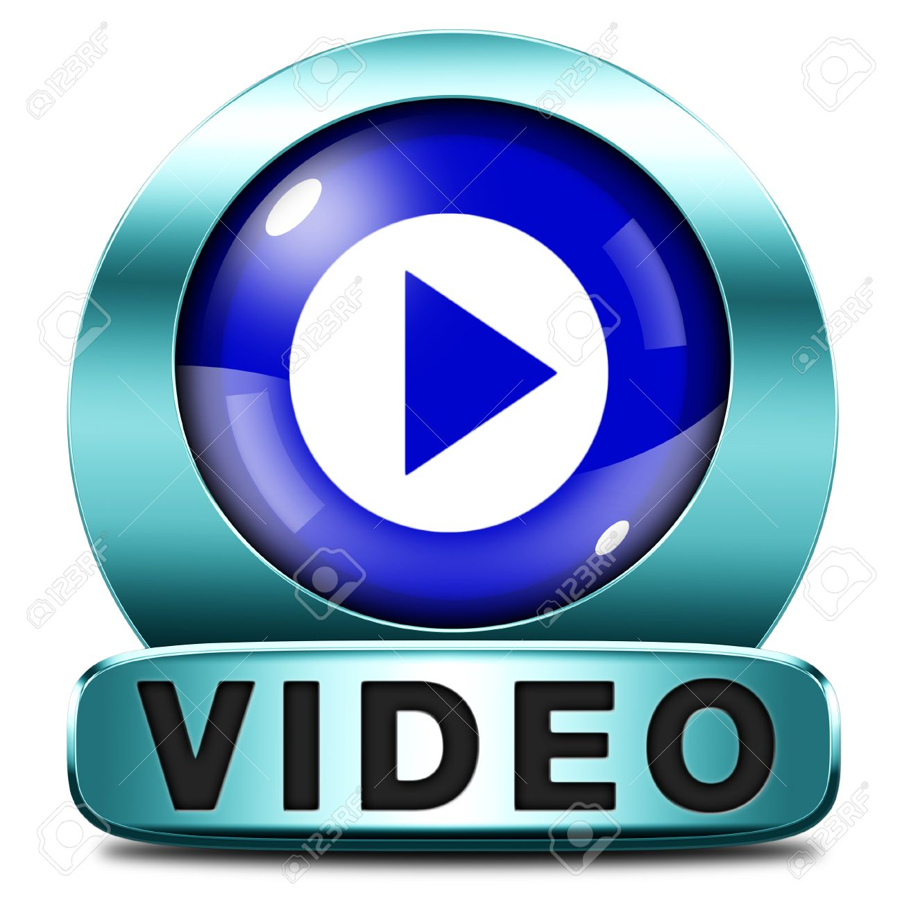 ddd6089c Play video clip or watch movie online or in live stream, multimedia button  banner or