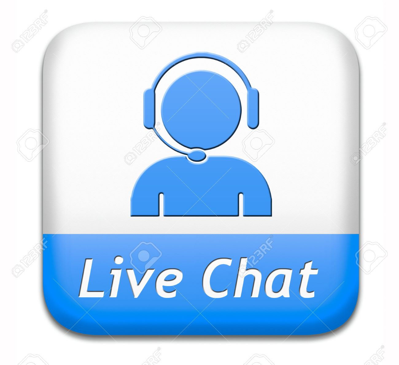 live chat icon. Chatting online button. Stock Photo - 26249408 0adc783d7