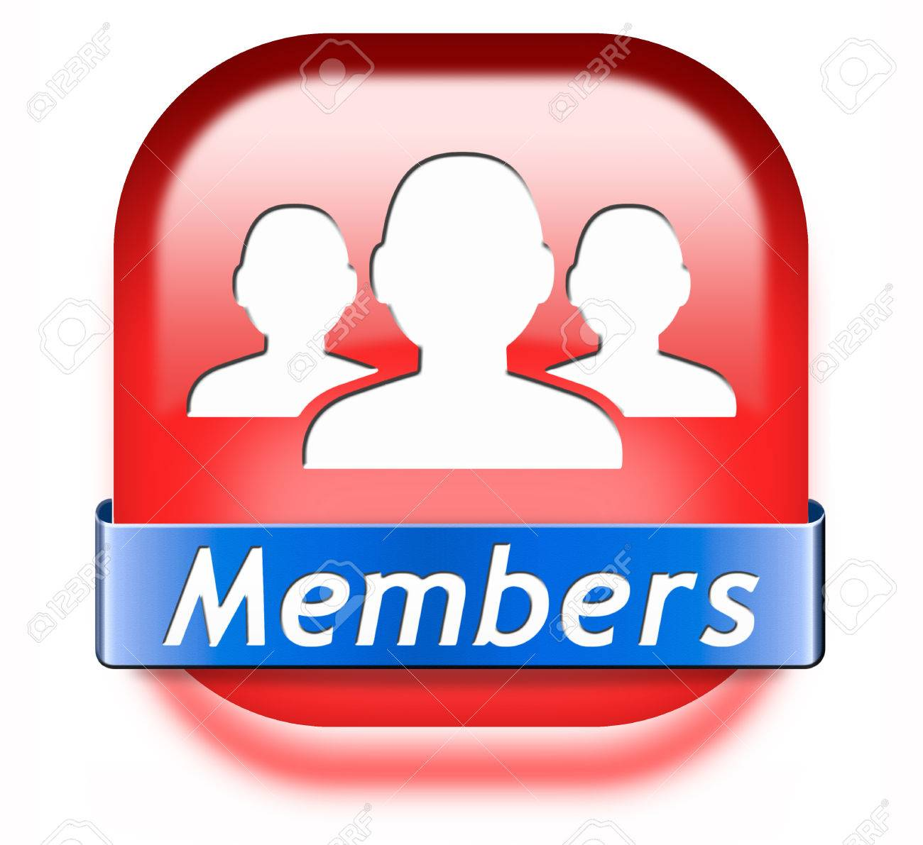 Members only restricted area icon sign or sticker become a member and join here to get