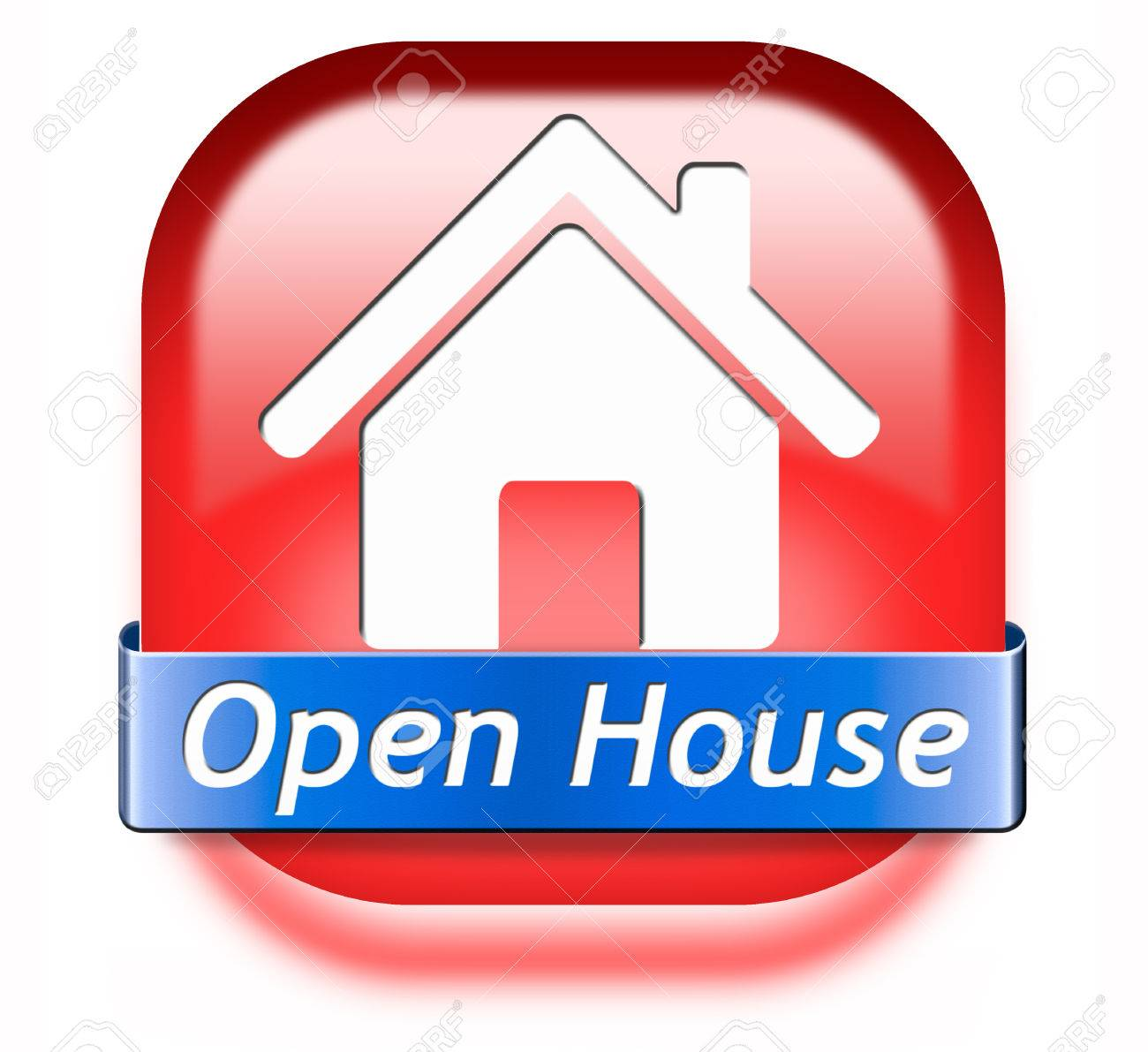 open house sign banner or placard for renting or buying a new