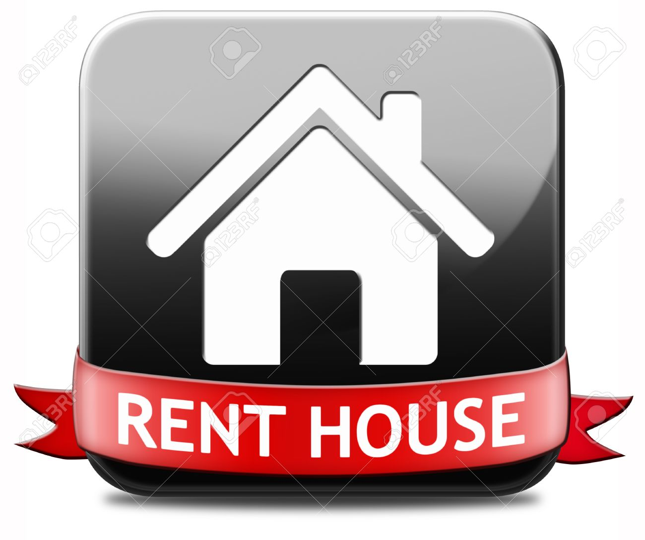 Renting A Apartment house for rent sign, renting a flat, room apartment or other