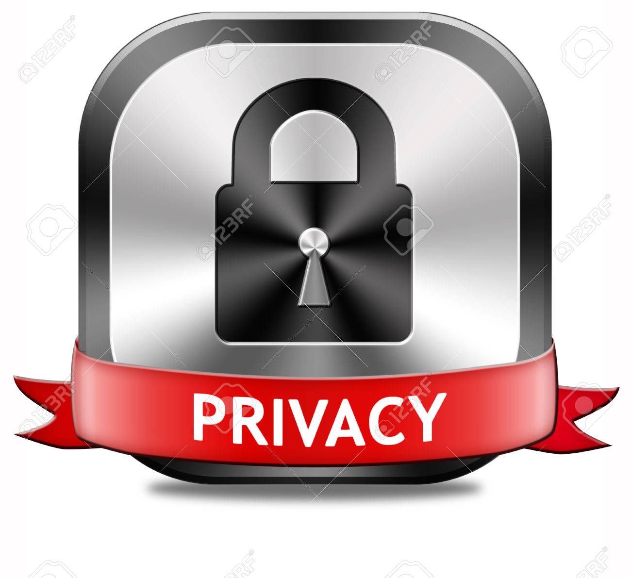 Privacy Private Area Protection Of Personal Online Data Or Confidential Information Password Protected Info Button
