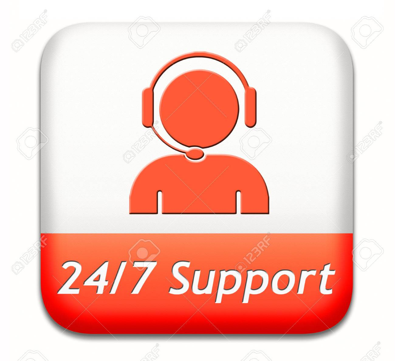 Stock Photo   Support Desk Icon Or 24/7 Help Desk Button Technical  Assitance And Customer Service