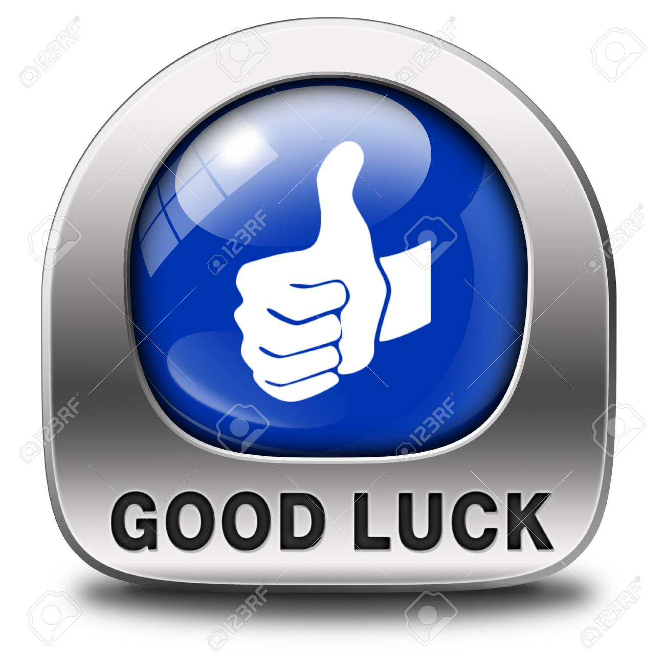 good luck icon or fortune button best wishes wish you the best of luck stock