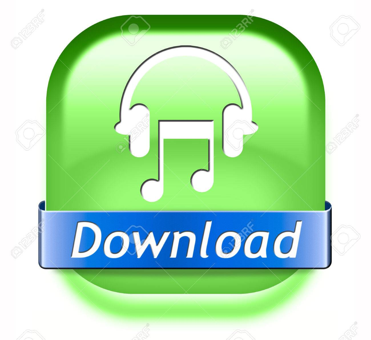 Music download button play and to listen live stream or for downloading