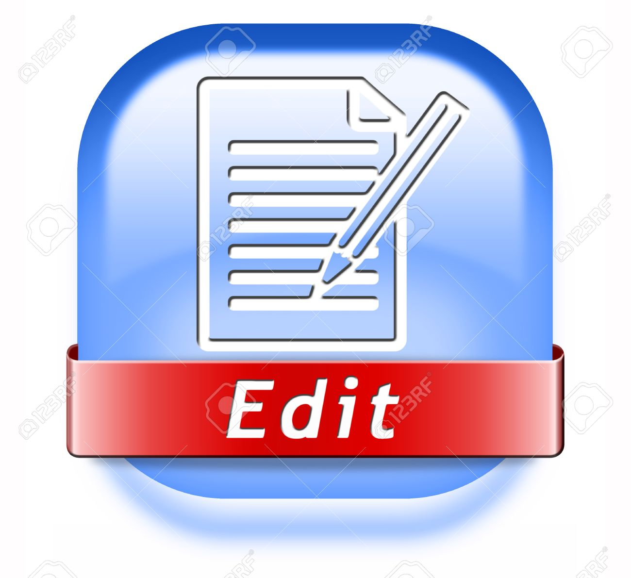 edit editing button or icon change correct or add information