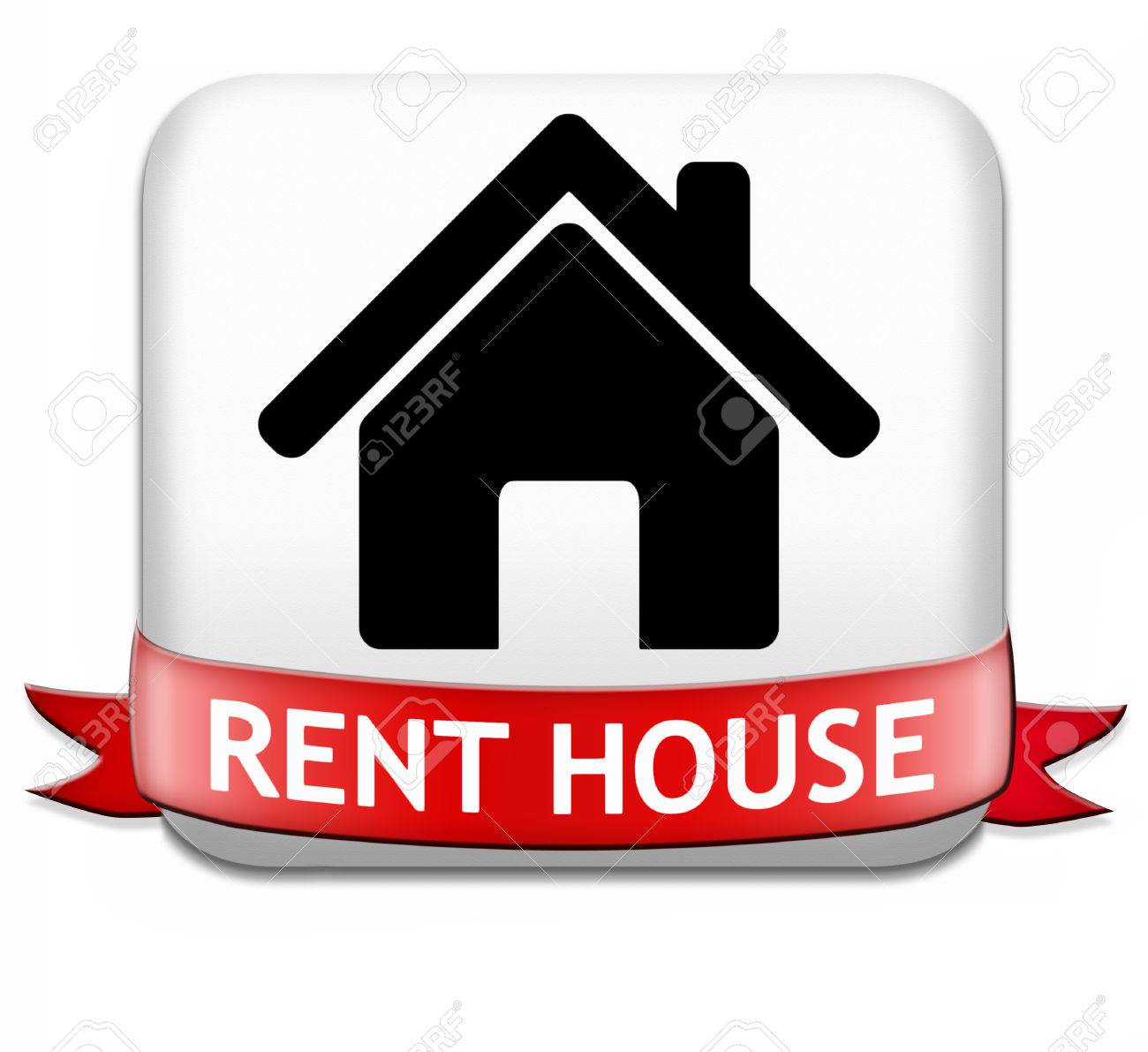 House For Rent Sign Renting A Flat Room Apartment Or Other Stock
