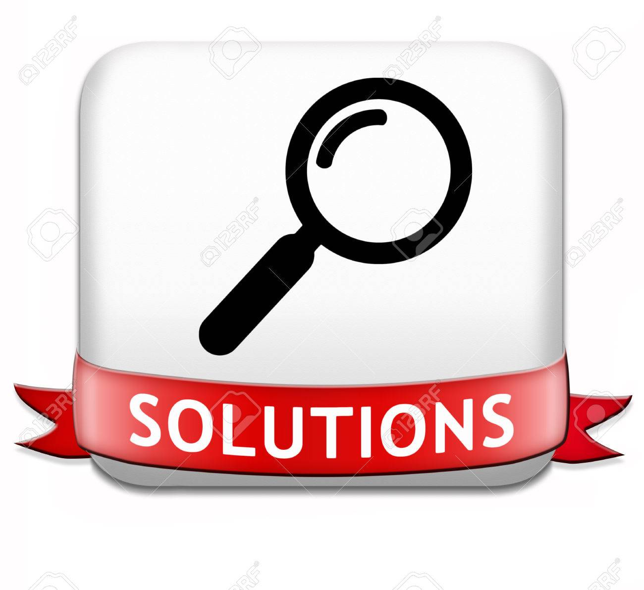 solutions button solve problems and search and find a solution