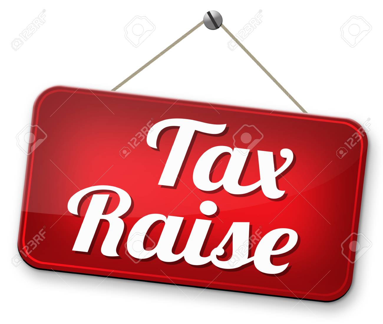 Tax Raise Raising Or Increase Taxes Rising Costs Stock Photo Picture And Royalty Free Image Image 32408512