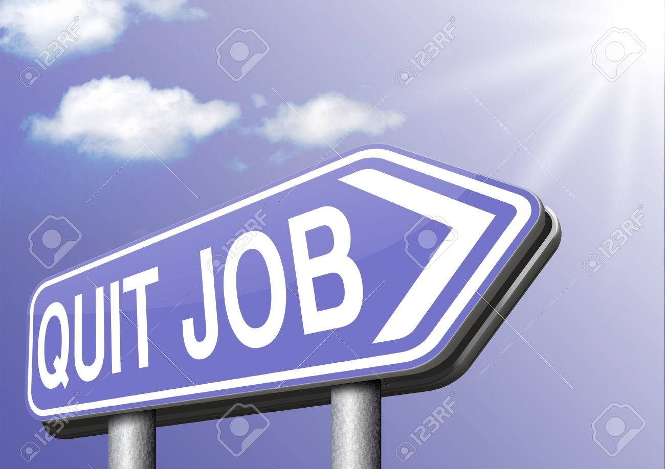 quit job change career resigning from work and getting unemployed stock photo quit job change career resigning from work and getting unemployed