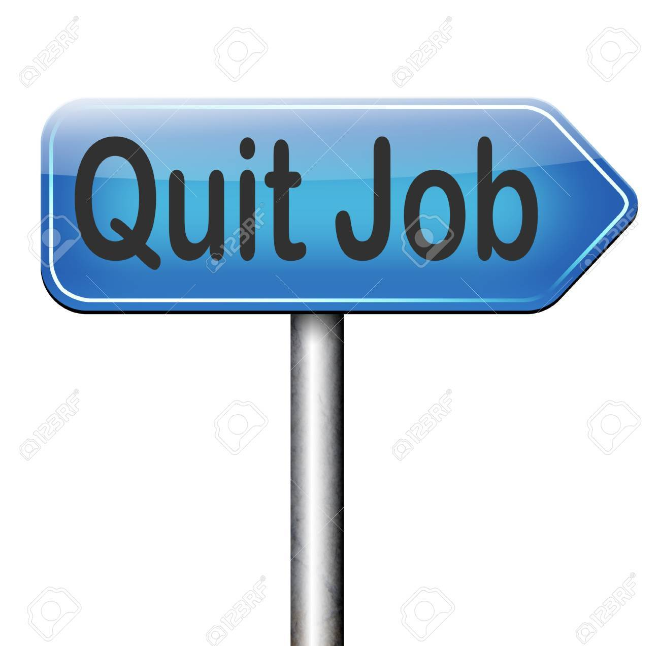 quit job road sign arrow resigning from work and getting stock photo quit job road sign arrow resigning from work and getting unemployed