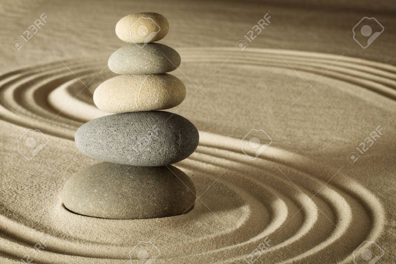 Balance And Harmony In Zen Meditation Garden Relaxation And ...