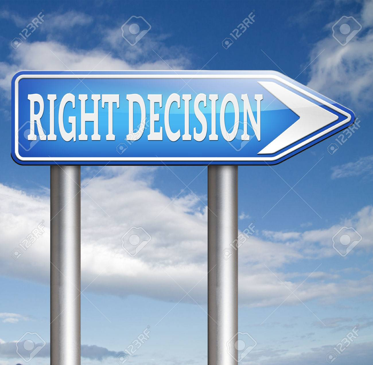 right decision choice correct way to choose wise choice sign stock