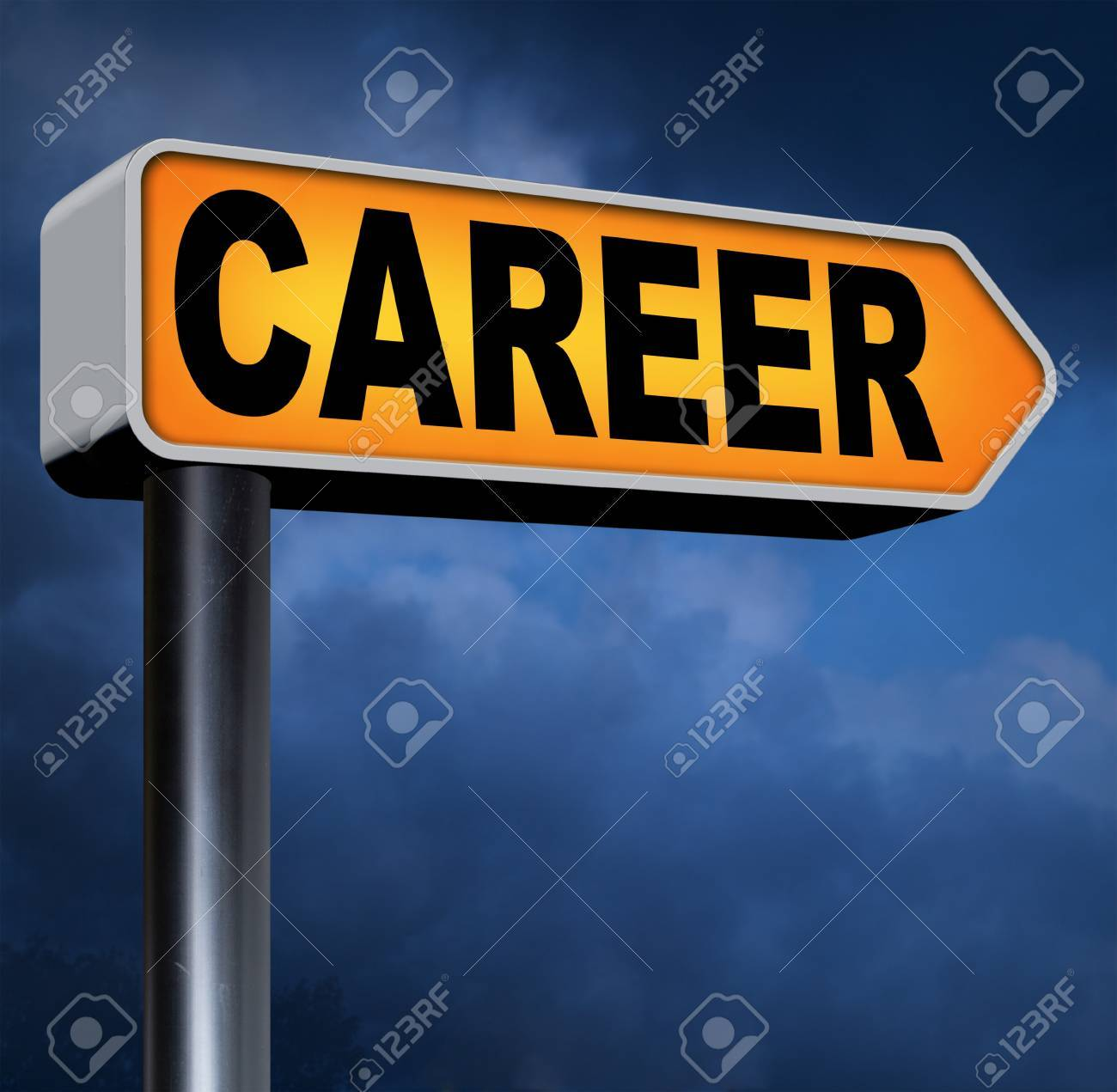 career move or choice get your nice job promotion or the search stock photo career move or choice get your nice job promotion or the search for a new job build a career or job road sign arrow